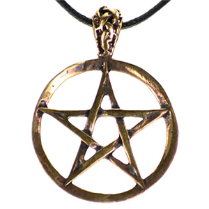Pentagram Bronze Necklace - Wiccan Place