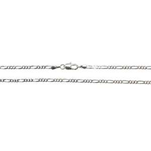 Silver Plated Brass Figaro Chain 20