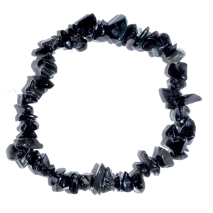 Obsidian, Black chip Stretch Bracelet 8mm - Wiccan Place