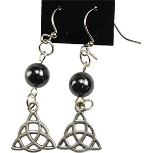 Hematite Triquetra earrings - Wiccan Place