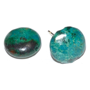 Reiki infused Chrysocolla stud earrings