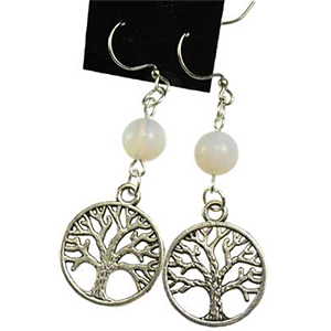Opalite Tree of Life earrings - Wiccan Place