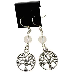 Quartz Tree of Life earrings - Wiccan Place