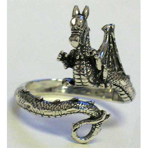 Dragon, adjustable ring - Wiccan Place