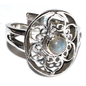 Lotus Labradorite adjustable ring