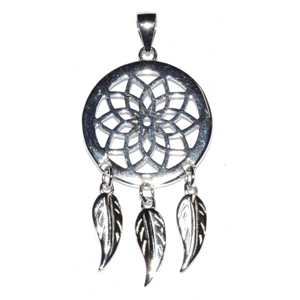 Sterling Silver Dreamcatcher pendant 3/4