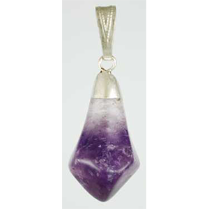 Amethyst tumbled pendant - Wiccan Place