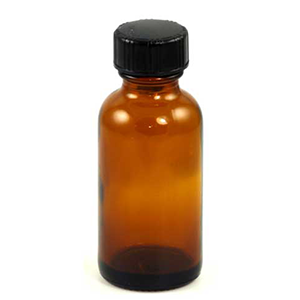 Amber bottle with Cap (c) 1 oz - Wiccan Place