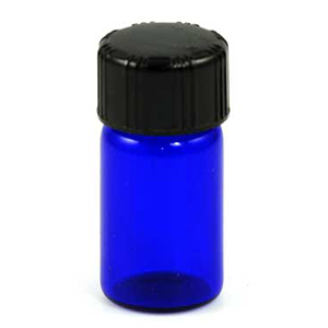Blue Round Bottle 5/8 Dram - Wiccan Place