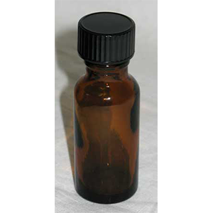 Amber Glass Bottle 0.5oz - Wiccan Place
