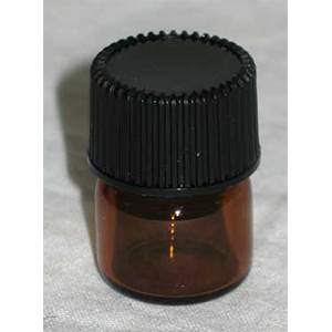 Amber Round Bottle 5/8 dram - Wiccan Place