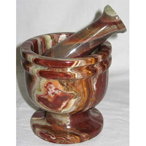 Polished Onyx mortar and pestle set - Wiccan Place