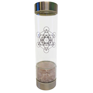 Zenature Rose Quartz Crystal Infuser Water Bottle (500 ml) - Wiccan Place
