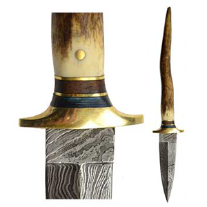 Bone Damascus athame - Wiccan Place