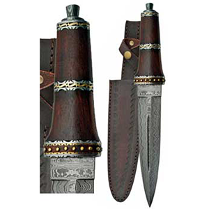 Dirk Wod Damascus athame - Wiccan Place