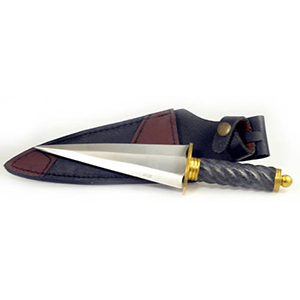 Roman Black Handle athame - Can not ship to MA or CA - Wiccan Place