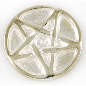 "Pentagram altar Coin 1 1/4"" - Wiccan Place"
