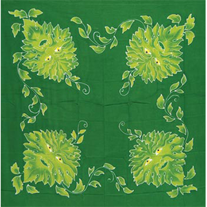 "Green Man  altar cloth or scarf 36"" x 36"" - Wiccan Place"