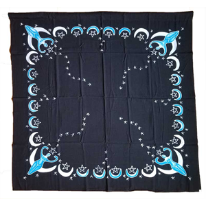 Goddess altar cloth or scarve blue 36