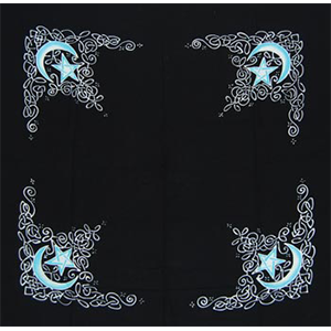 "Celtic Moon altar cloth or scarf 36"" x 36"" - Wiccan Place"