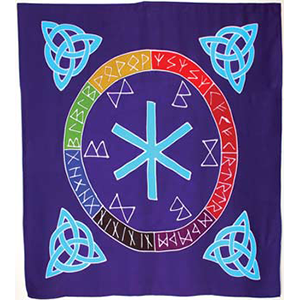 "Rune Mother altar cloth or scarve 36"" x 36"" - Wiccan Place"