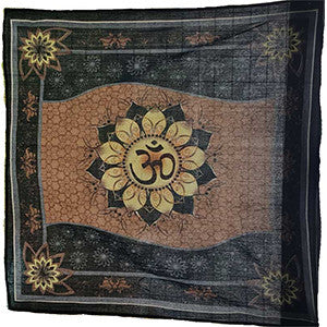 Om Lotus Altar Cloth 36