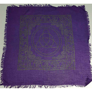 "Triquetra altar cloth 22"" x 22"" - Wiccan Place"
