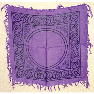 "Celtic altar or tarot cloth 18"" x 18"" - Wiccan Place"