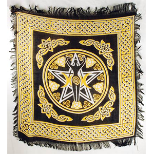 "Pentagram Goddess altar cloth 18"" x 18"" - Wiccan Place"