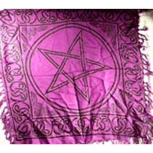 Pentagram altar cloth 36
