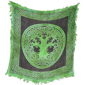 "Tree of Life altar cloth 18"" x 18"" - Wiccan Place"