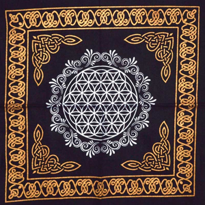 Flower of Life altar cloth 18