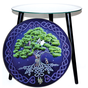 Tree of Life glass altar table 5 1/2
