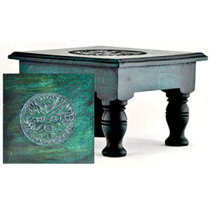 "Greenman altar table 8"" - Wiccan Place"