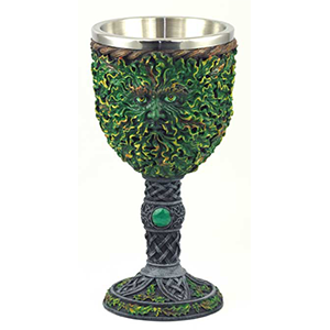 "Greenman Chalice 7 1/2"" - Wiccan Place"