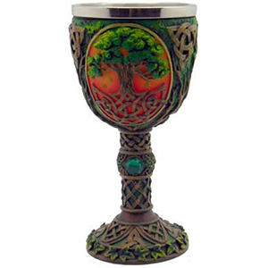 "Tree of Life chalice 7 1/4"" - Wiccan Place"