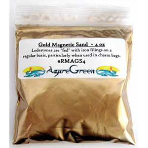 Gold Magnetic Sand (Lodestone Food) 4oz - Wiccan Place