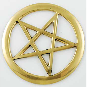 "Brass Cut-Out Pentagram 3"" - Wiccan Place"