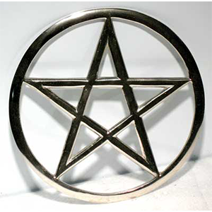 "Cut-Out Pentagram altar tile 5 3/4"" - Wiccan Place"