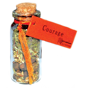 Courage Pocket Spell Bottle - Wiccan Place