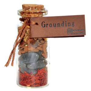 Grounding  Pocket Spell Bottle - Wiccan Place