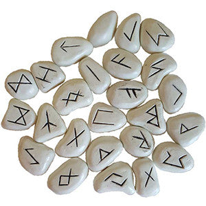 White Resin rune set - Wiccan Place