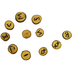 Wood rune set - Wiccan Place