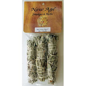 "White Sage Smudge Sticks 3 pk 3"" - Wiccan Place"