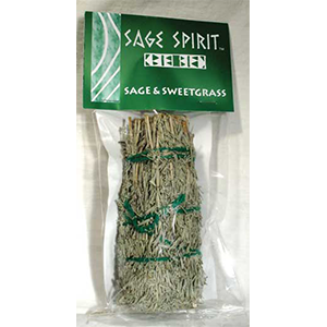 "Sage & Sweetgrass smudge stick 5"" - Wiccan Place"