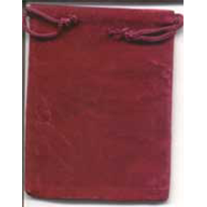 Velveteen 2 x 2 1/2 Burgundy Bag - Wiccan Place