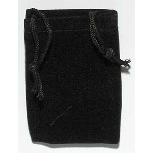 Velveteen 2 x 2 1/2 Black Bag - Wiccan Place