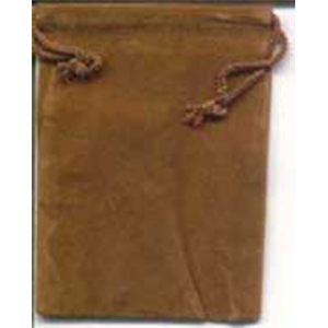 Velveteen 2 x 2 1/2 Brown Bag - Wiccan Place