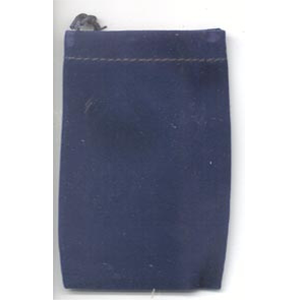 Velveteen 2 x 2 1/2 Blue Bag - Wiccan Place