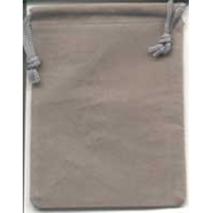 Velveteen 2 x 2 1/2 Gray Bag - Wiccan Place